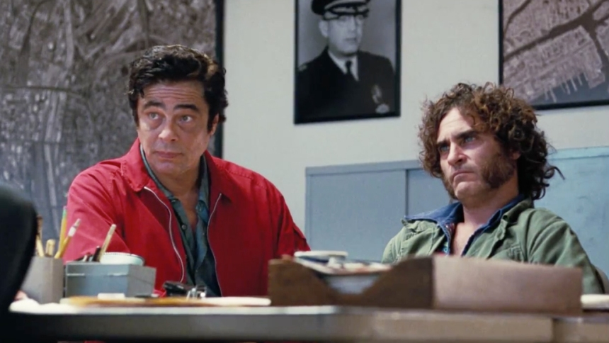 Yo! It's Benecio! Make the most of those three lines, fella, it's all you're getting. By the way, this scene is sandwiched in between the fight with the pimp and the bit where the real estate guy turns out to be a baseball fanatic with a penchant for PCP and quality jazz musicianship. Just so you know.