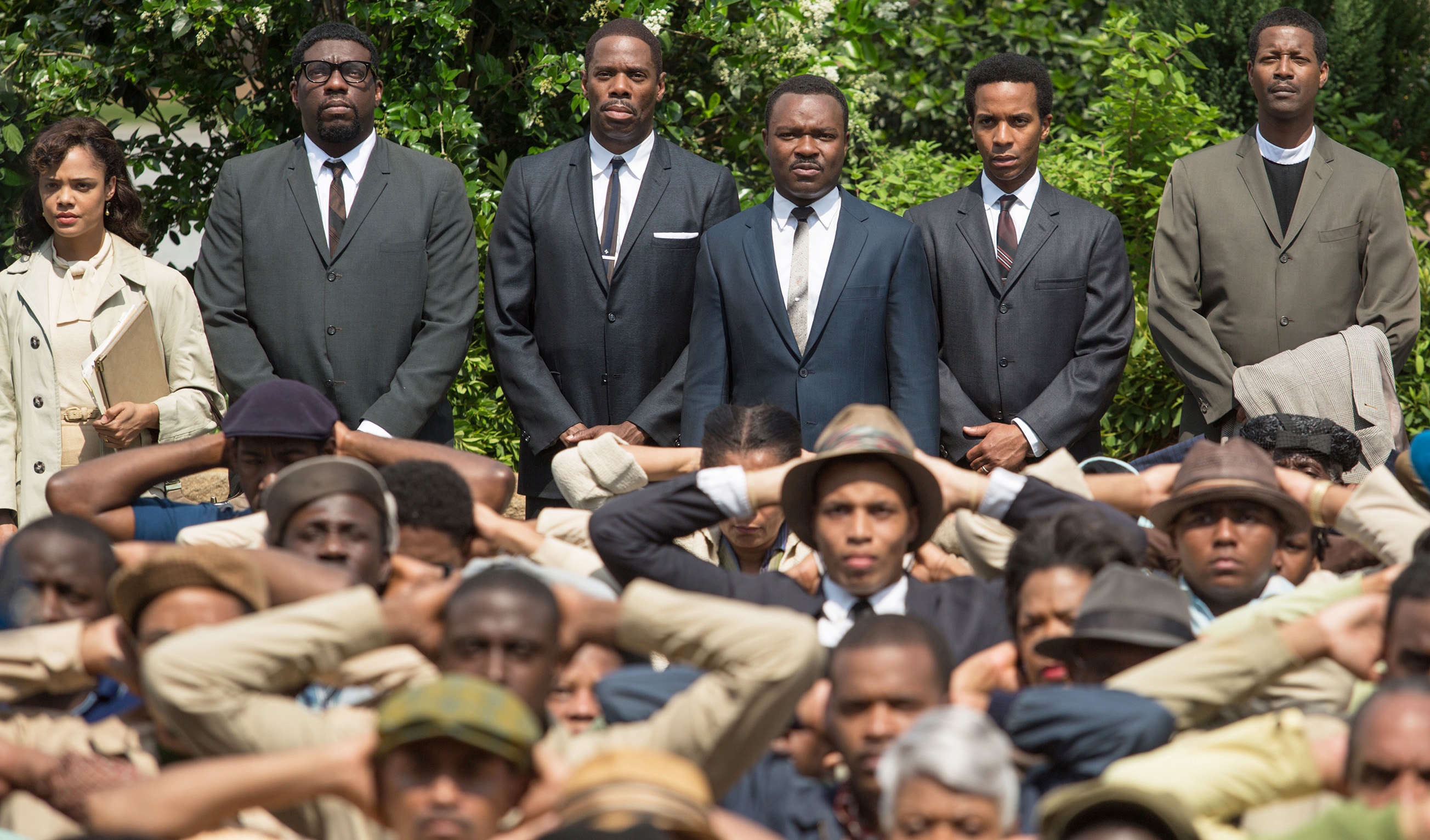 Martin Luther King, Jr (David Oyelowo) and supporters stage a protest in Ava DuVernay's Selma